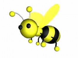 Cartoon bee flying 3d model preview