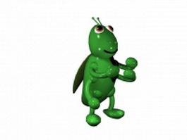 Cartoon grasshopper 3d model preview