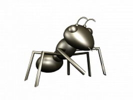 Cute cartoon ant 3d model preview