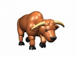 Cartoon cattle 3d model preview
