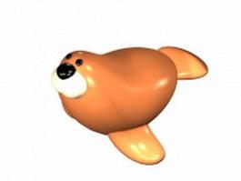 Cartoon sea lion 3d model preview