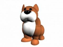 Mean cartoon dog 3d model preview