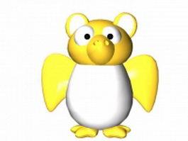 Cartoon night owl 3d model preview