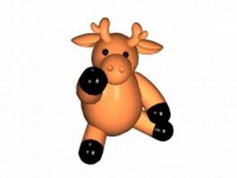 Funny cartoon deer 3d model preview