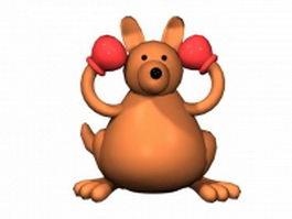 Cartoon boxing kangaroo 3d preview