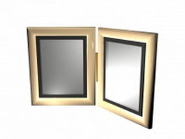 Desktop picture frame 3d model preview