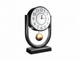 Modern desk clock 3d model preview