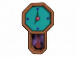 Cartoon wall clock 3d model preview