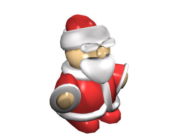 Santa claus figure 3d rendering