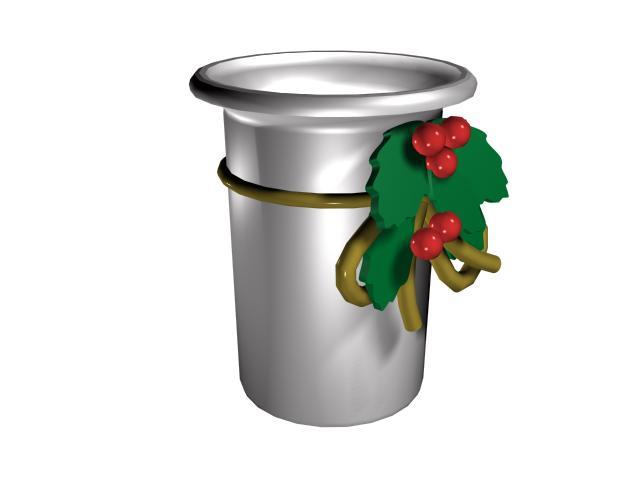 Christmas ornament bucket 3d rendering