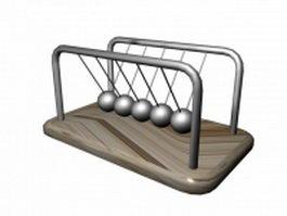 Newtons cradle balls 3d model preview