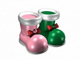Decorative santa boot 3d model preview