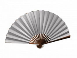 Japanese folding fan 3d preview