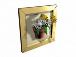 Three-dimensional frame 3d model preview