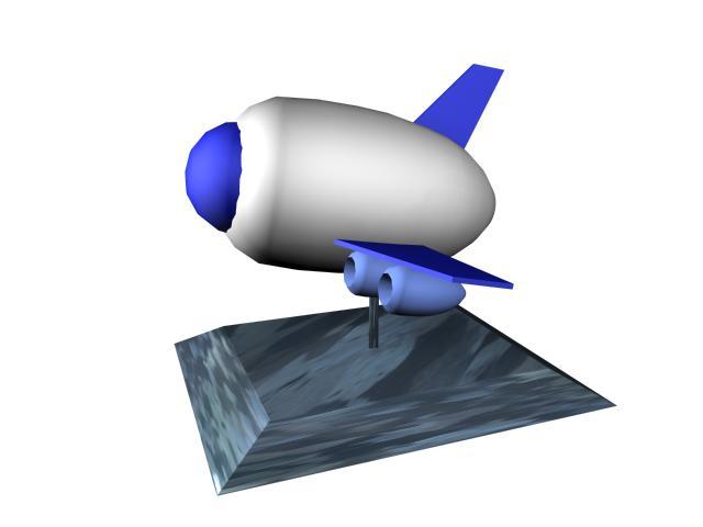Spacecraft desk artware 3d rendering