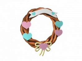Decorative wreath 3d preview