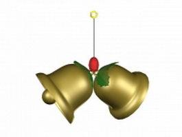 Christmas bells 3d model preview
