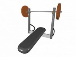 Weight bench with squat rack 3d preview