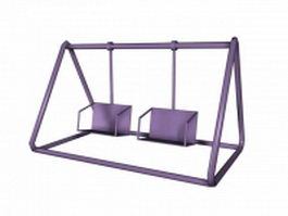 Outdoor swing for kids 3d model preview