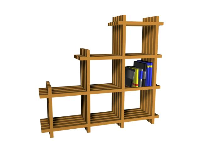 IKEA book rack 3d rendering