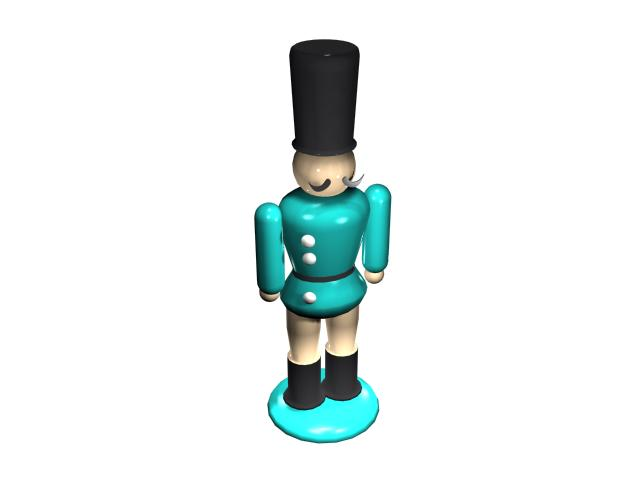 Cartoon figure soldier 3d rendering