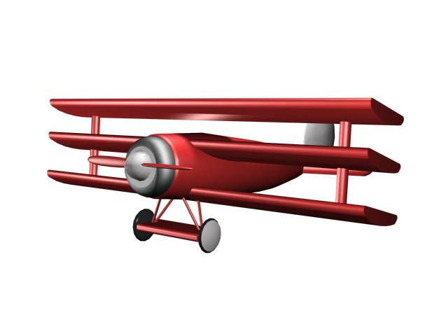 Toy military aircraft for kids 3d rendering