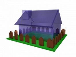 Transparent plastic house toy 3d preview