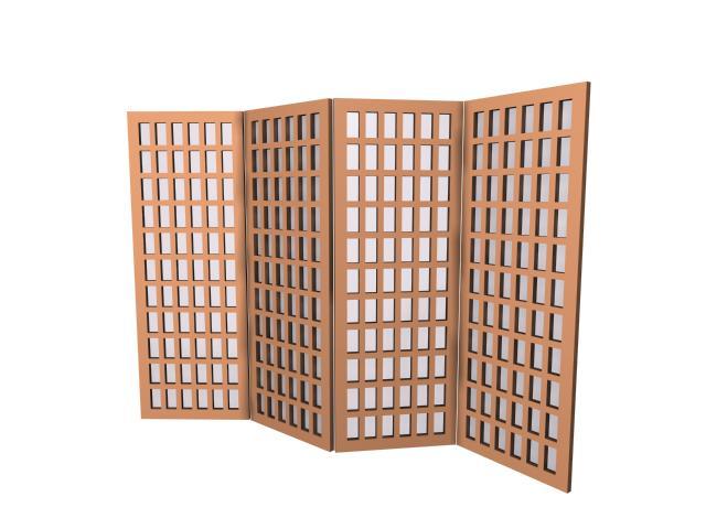 IKEA folding screen 3d rendering
