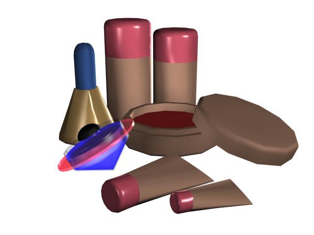 Makeup set for girls 3d rendering