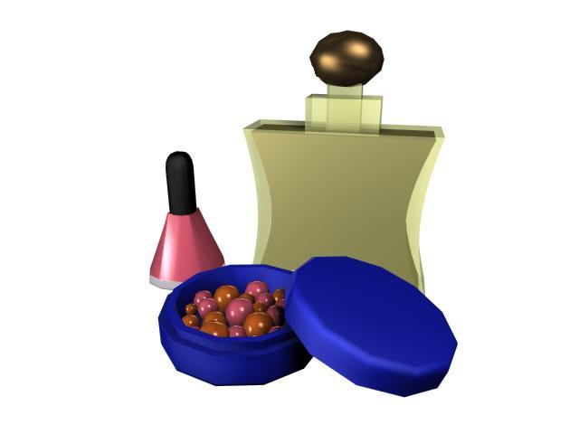 Nail polish and perfume 3d rendering