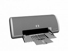 HP Deskjet 3745 ink-jet printer 3d model preview