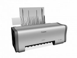 Canon ip1000 color inject printer 3d model preview