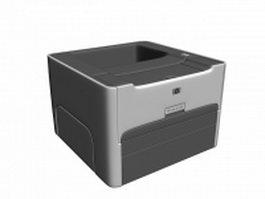 HP laser jet 1320 printer 3d model preview