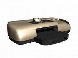 Colour laser printer 3d model preview