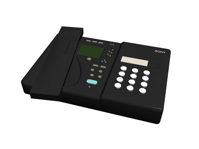 Sony fax machine 3d rendering