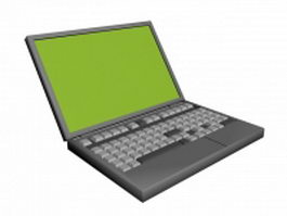Notebook computer 3d model preview