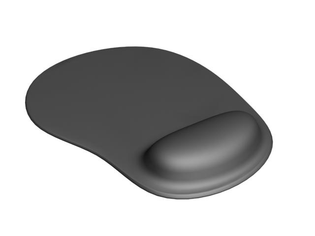 Black mousepad 3d rendering