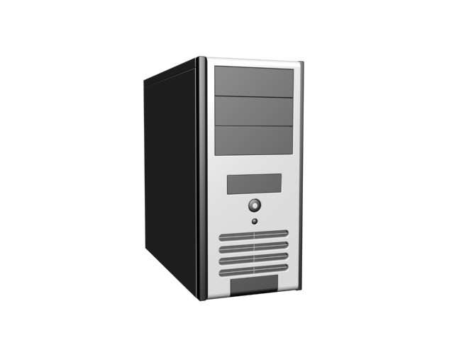 Tower PC case 3d rendering