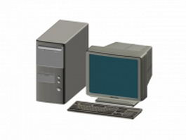 Tower personal computer 3d model preview