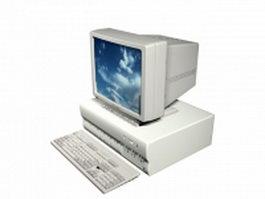 Horizontal desktop computer 3d model preview