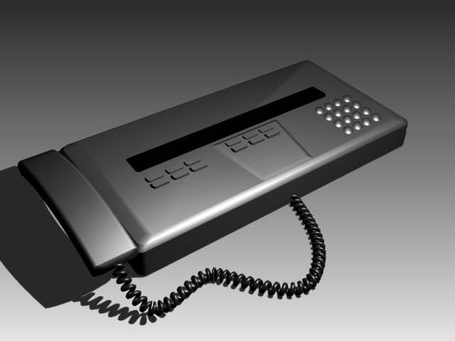Old fax machine 3d rendering