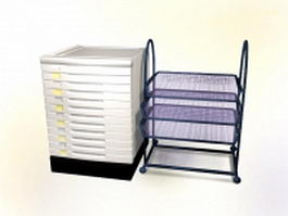 Index card cabinet and folder holder 3d preview