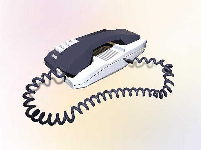 Desktop telephone 3d rendering