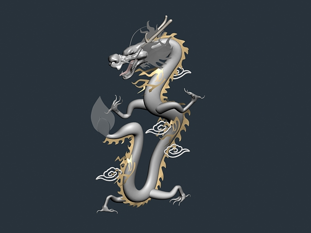 Chinese dragon 3d rendering