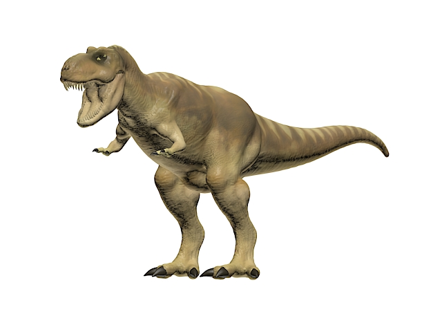 Tyrannosaurus rex 3d rendering