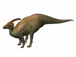 Parasaurolophus 3d model preview