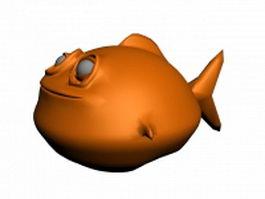 Cartoon fish character 3d model preview