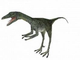 Compsognathus 3d model preview