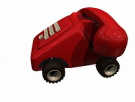 Toy telephone for kids 3d model preview
