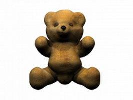 Stuffed toy teddy bear 3d model preview
